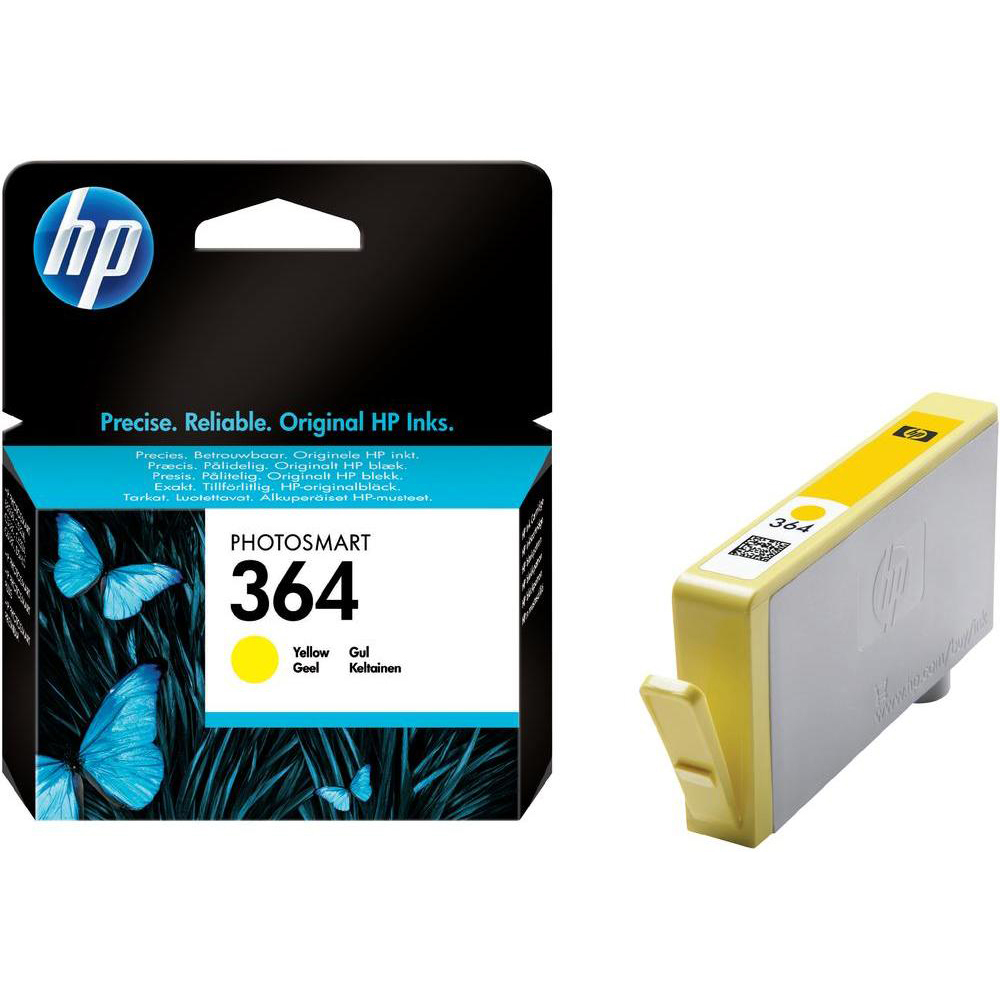 Original HP 364 Yellow Ink Cartridge (CB320EE)