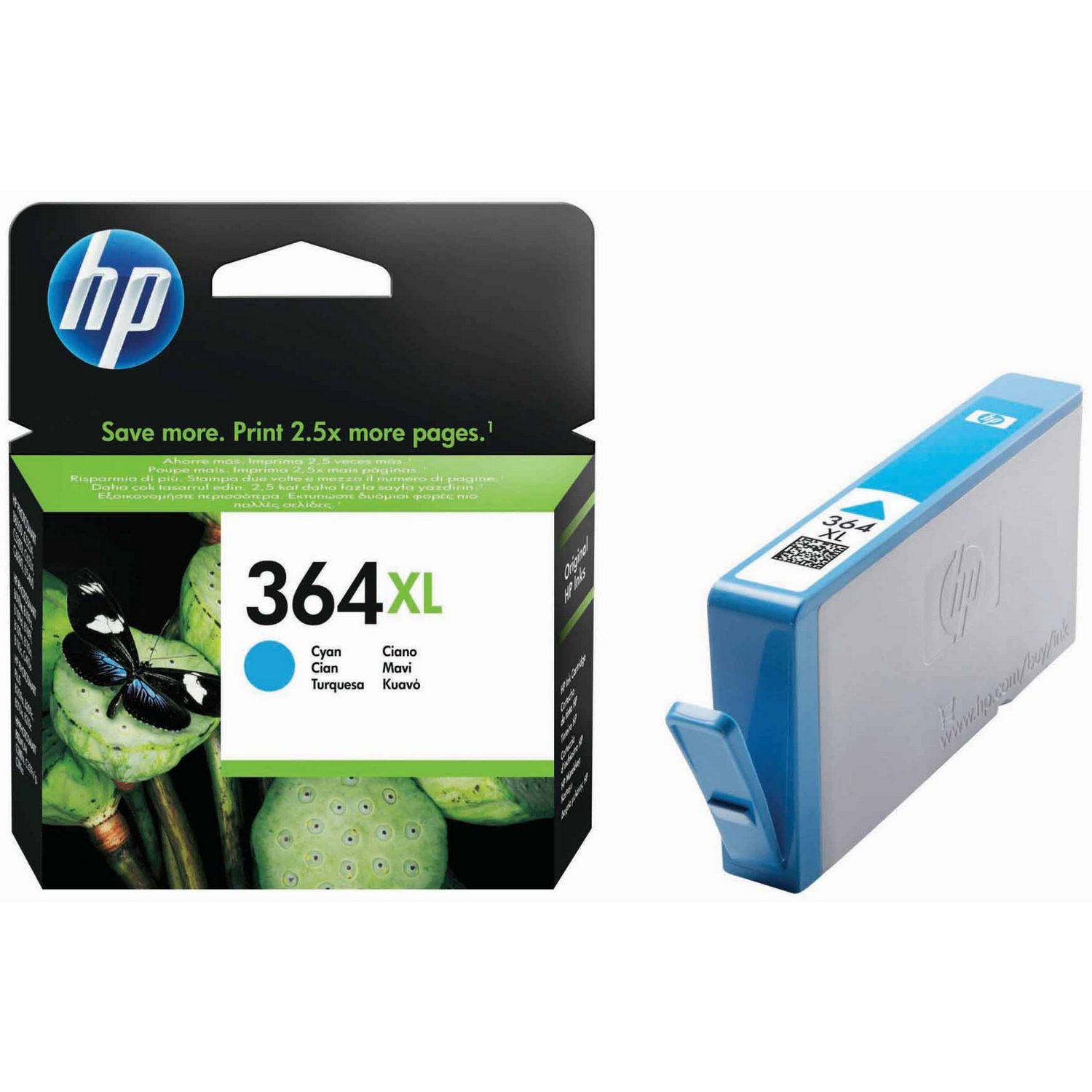 Original HP 364XL Cyan High Capacity Ink Cartridge (CB323EE)