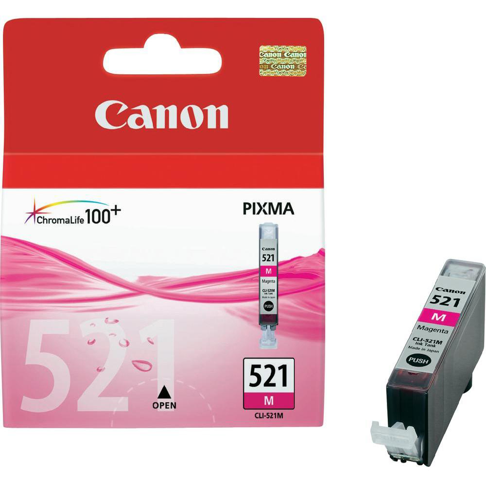 Original Canon CLI-521M Magenta Ink Cartridge (2935B001)