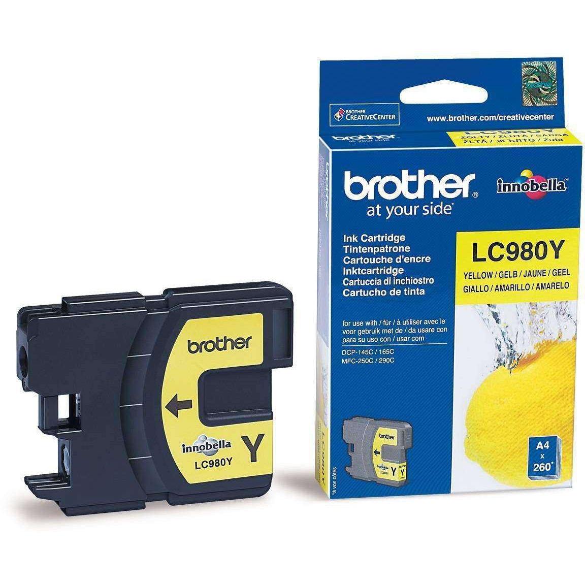 Original Brother LC980Y Yellow Ink Cartridge (LC980Y)