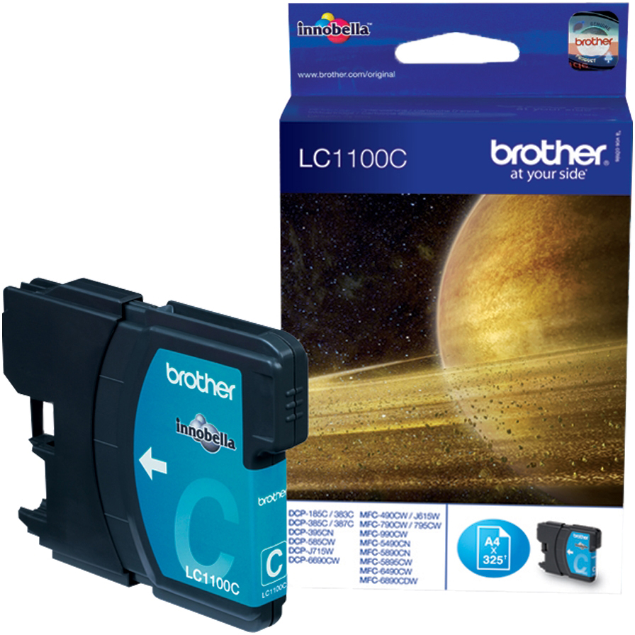 Original Brother LC1100 Cyan Ink Cartridge (LC1100C)