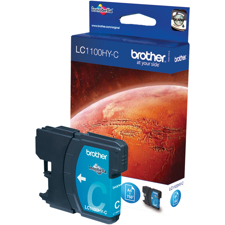 Original Brother LC1100HY Cyan High Capacity Ink Cartridge (LC1100HYC)