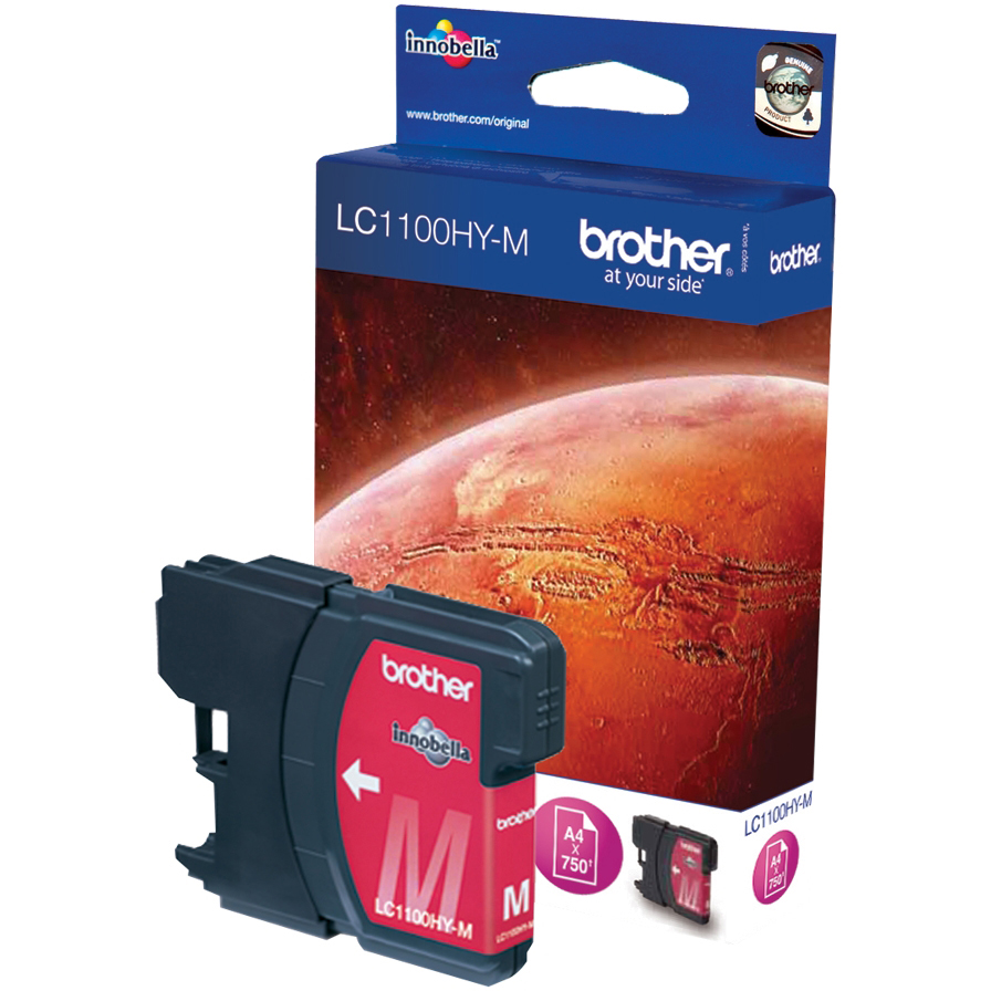 Original Brother LC1100HY Magenta High Capacity Ink Cartridge (LC1100HYM)