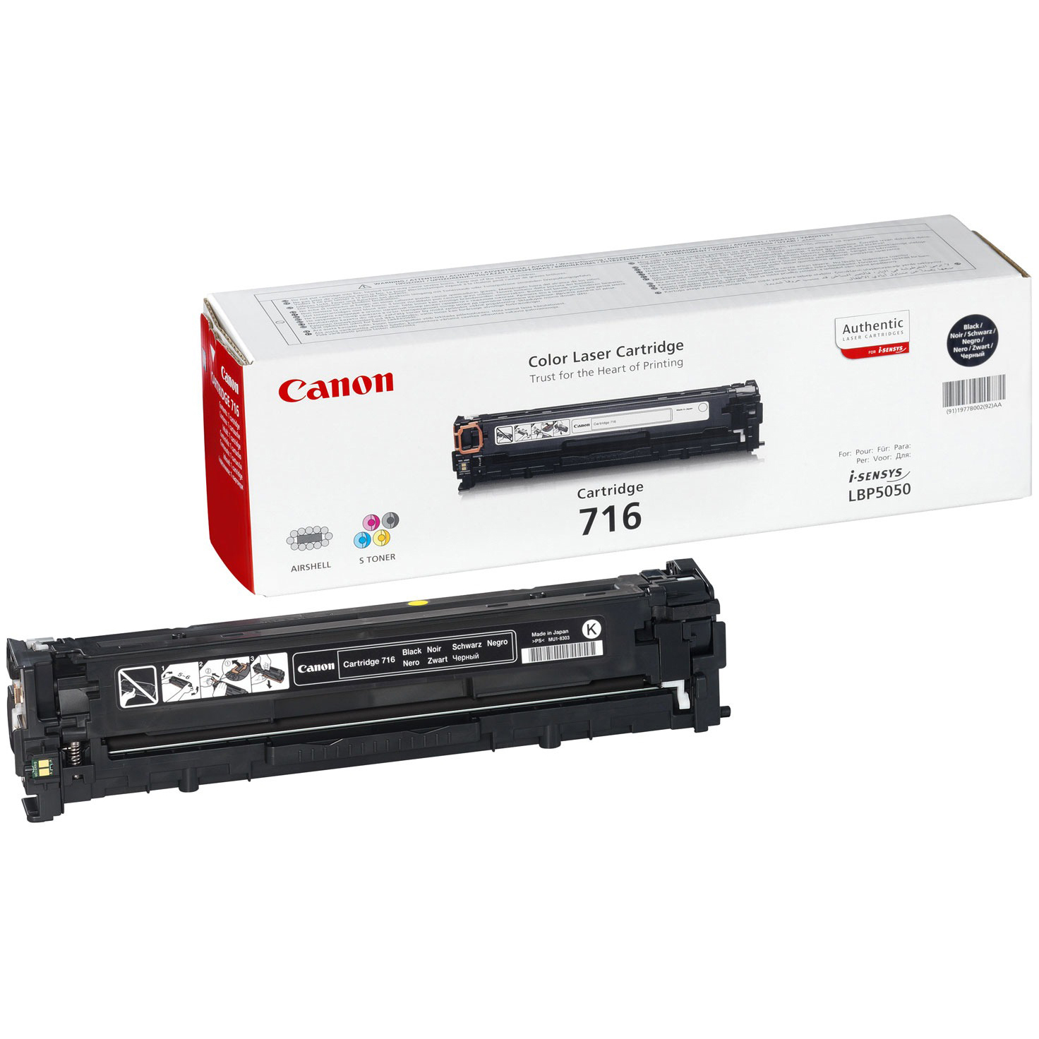 Original Canon 716 Black Toner Cartridge (1980B002AA)