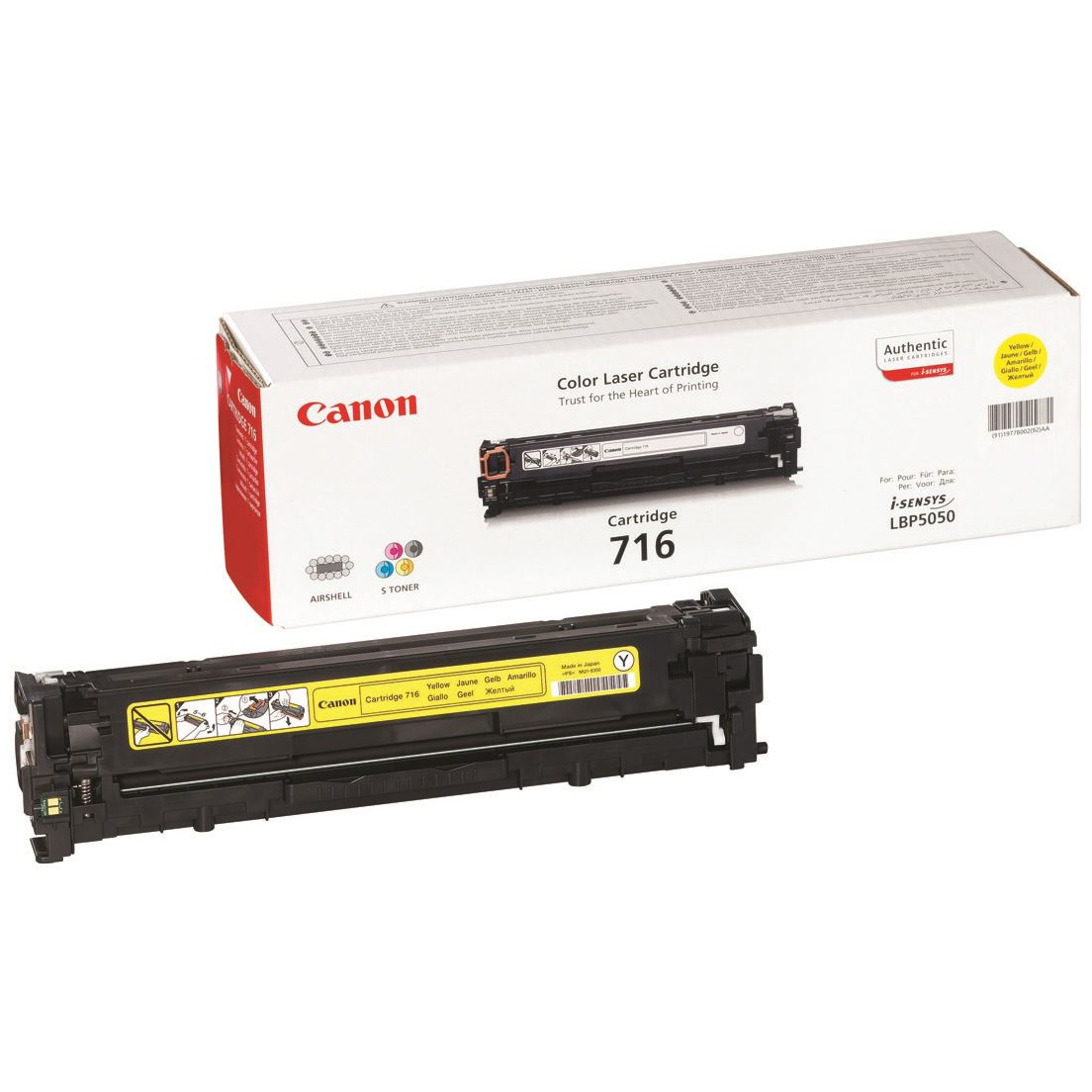 Original Canon 716 Yellow Toner Cartridge (1977B002AA)