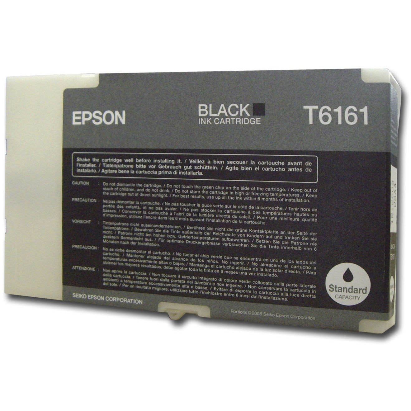Original Epson T6161 Black Ink Cartridge (C13T616100)