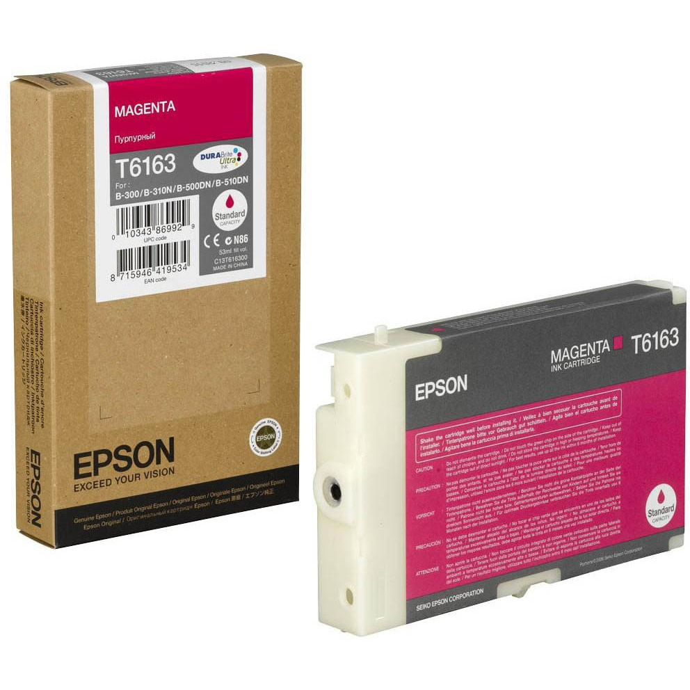 Original Epson T6163 Magenta Ink Cartridge (C13T616300)