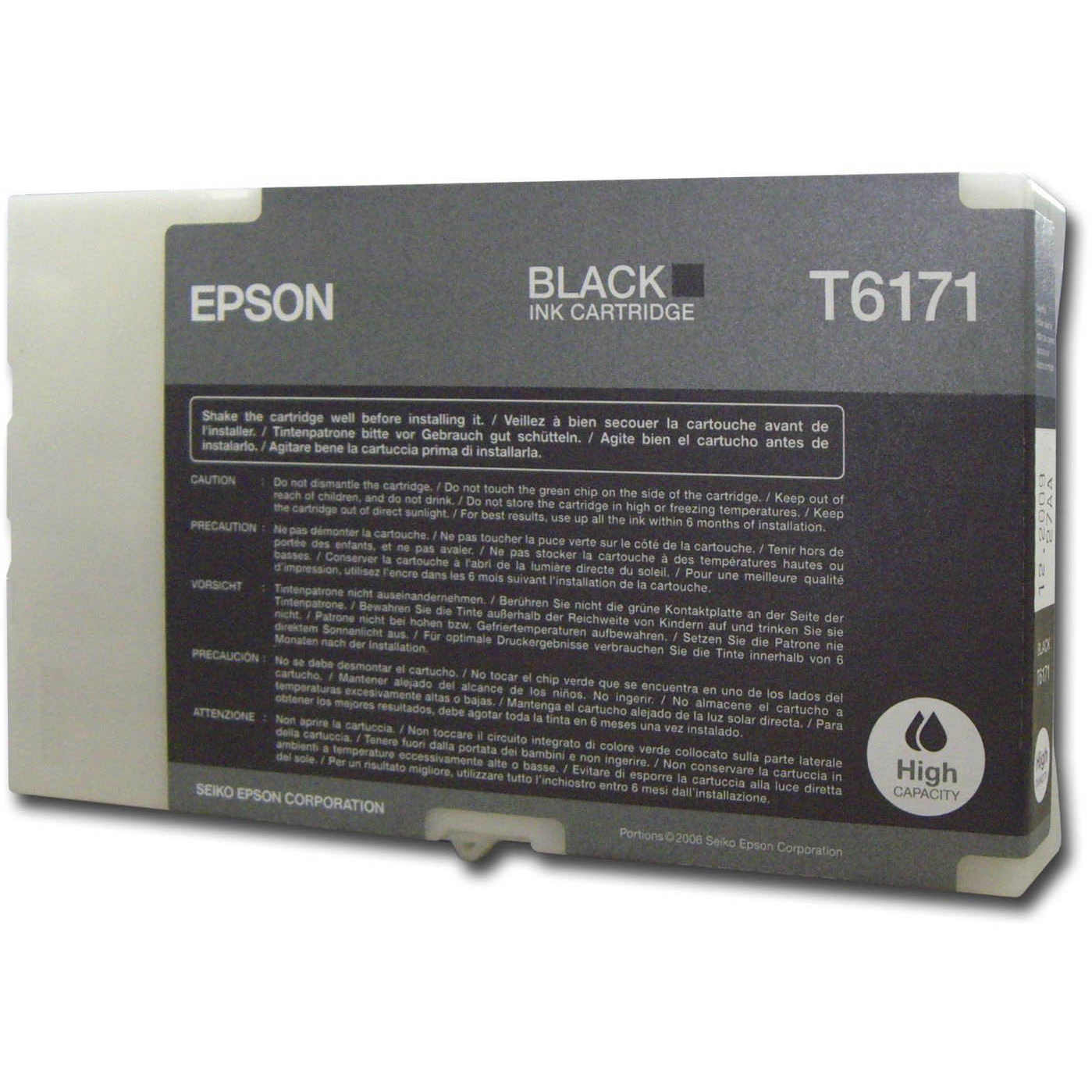 Original Epson T6171 Black High Capacity Ink Cartridge (C13T617100)