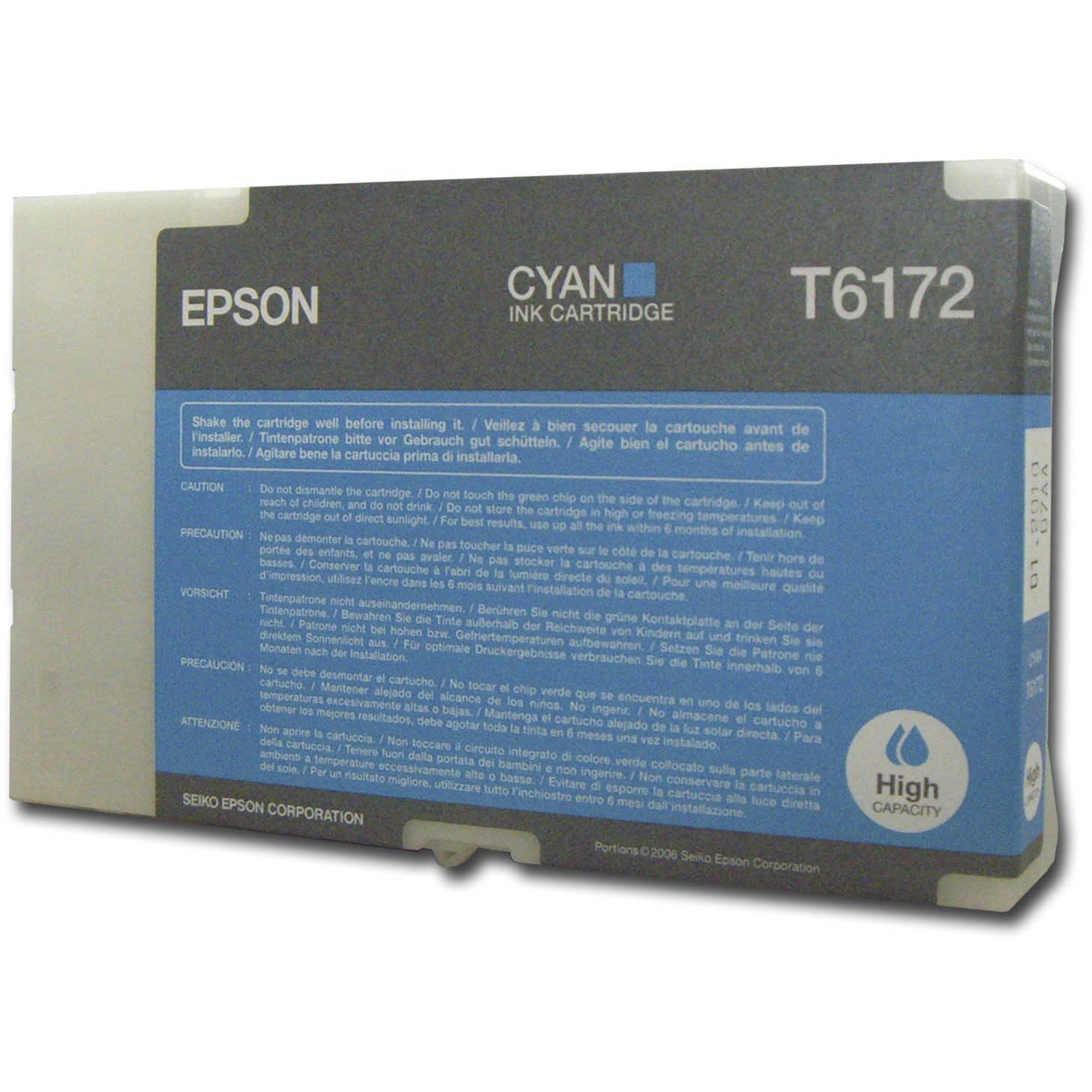 Original Epson T6172 Cyan High Capacity Ink Cartridge (C13T617200)