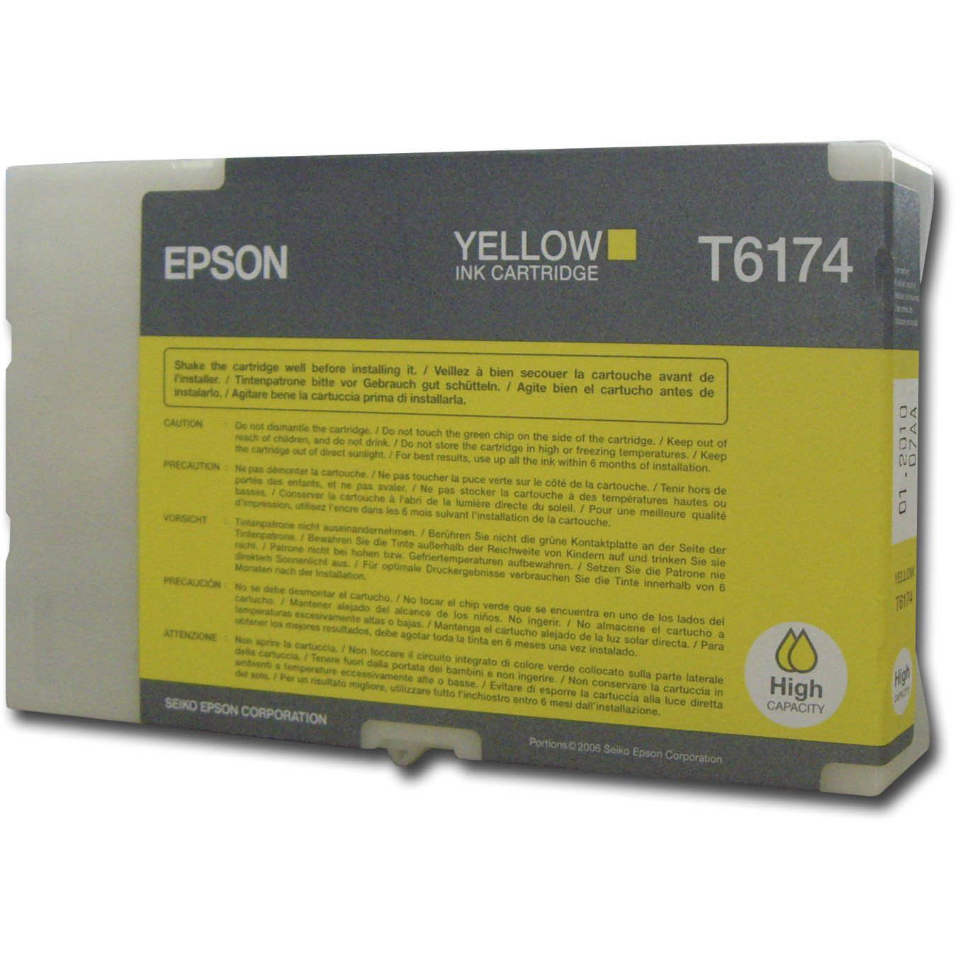 Original Epson T6174 Yellow High Capacity Ink Cartridge (C13T617400)