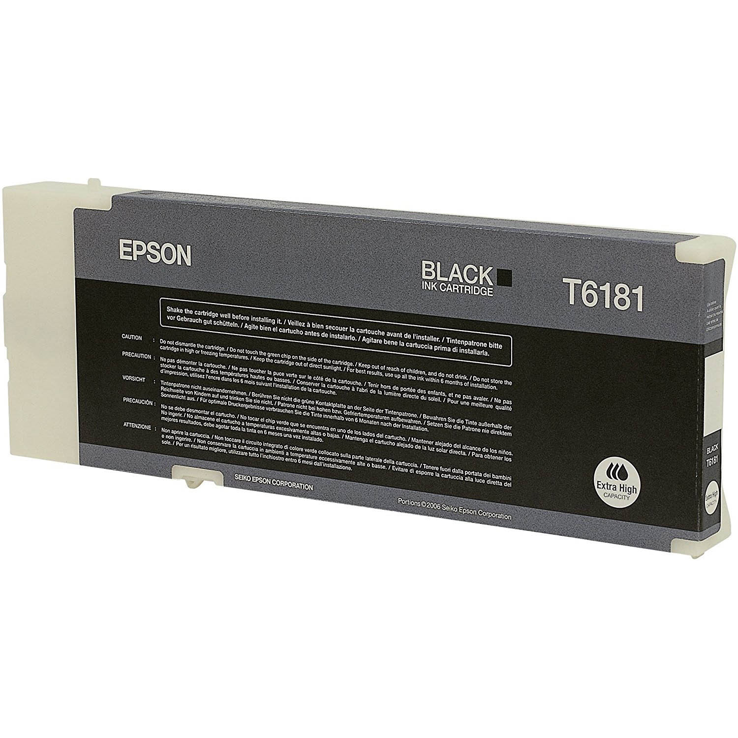 Original Epson T6181 Black Extra High Capacity Ink Cartridge (C13T618100)