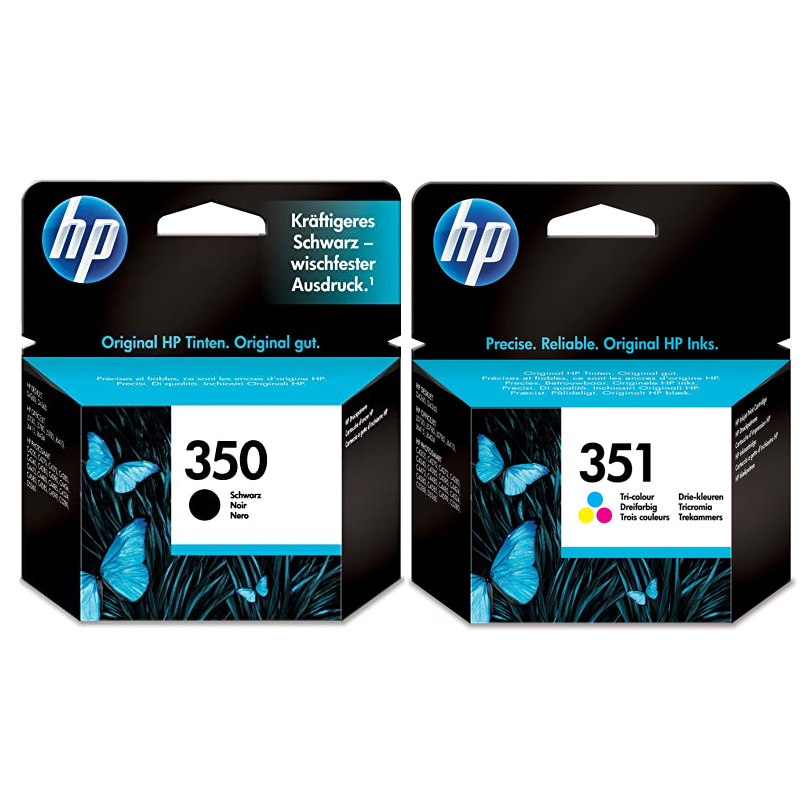 Original HP 350 / 351 Black & Colour Combo Pack Ink Cartridges (SD412EE)