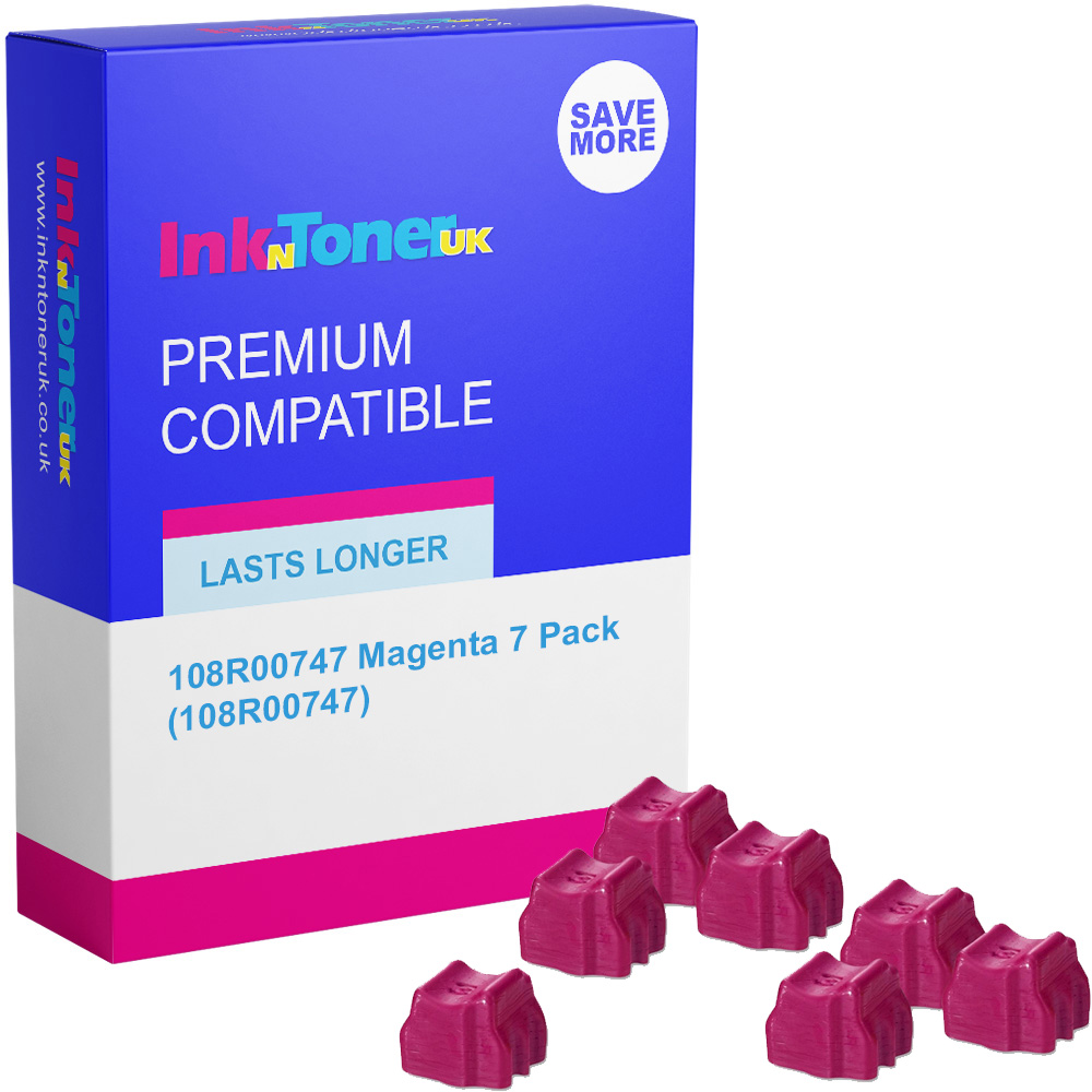 Premium Compatible Xerox 108R00747 Magenta 7 Pack Solid Ink (108R00747)