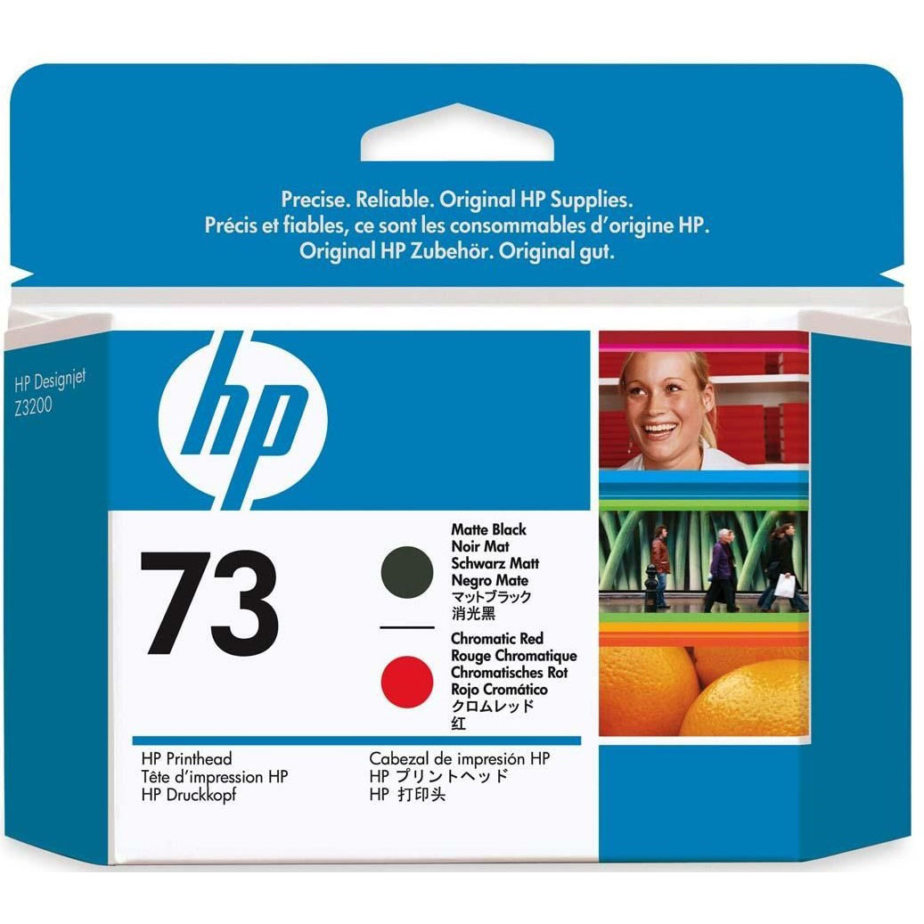 Original HP 73 Matte Black & Chromatic Red Printhead (CD949A)