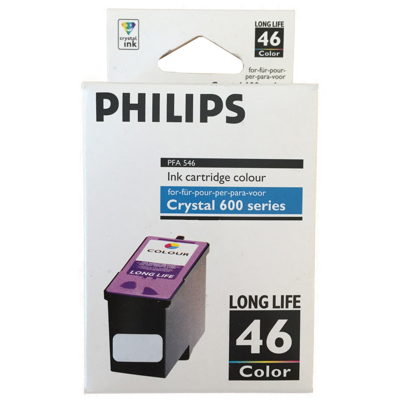 Original Philips 46 Colour High Capacity Ink Cartridge (PFA546)
