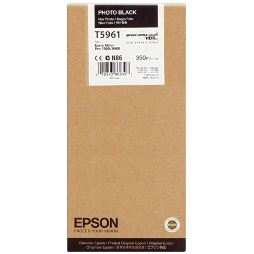Original Epson T5961 Photo Black Ink Cartridge (C13T596100)