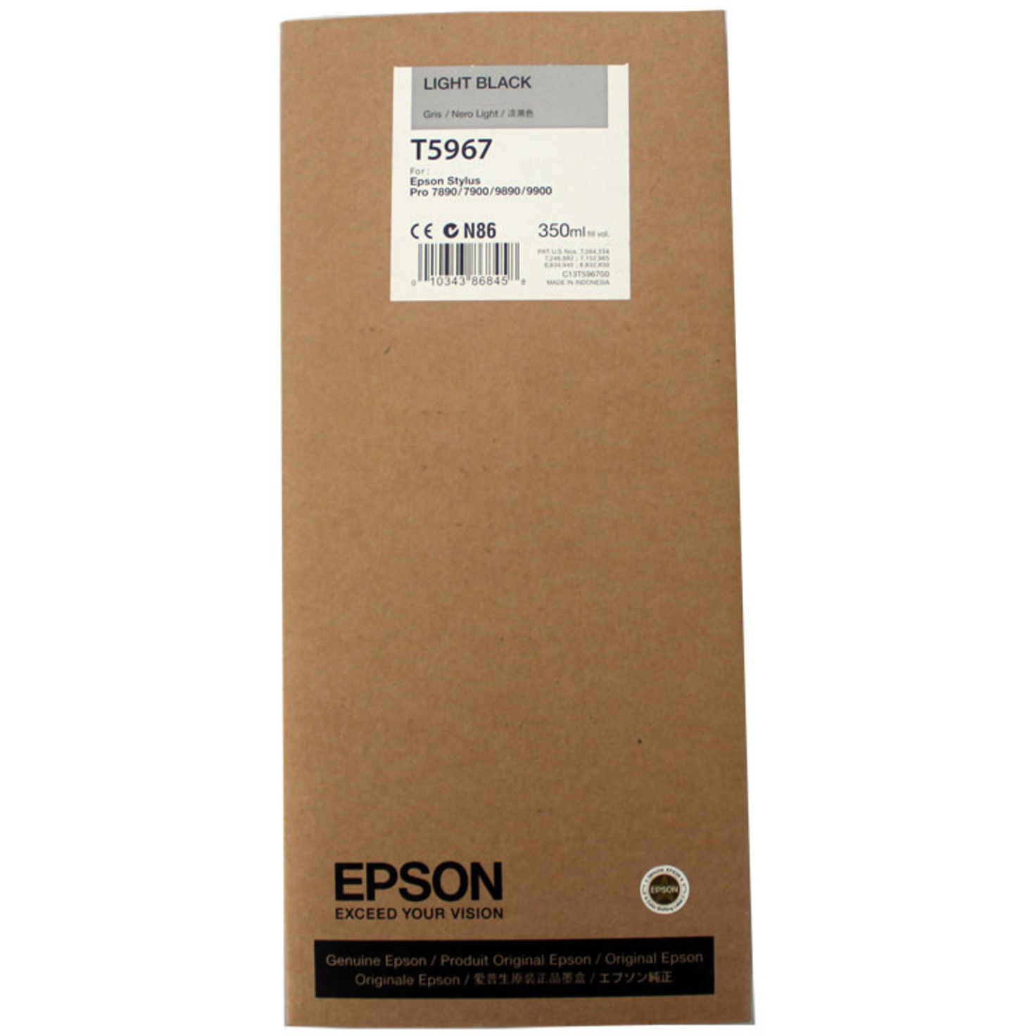 Original Epson T5967 Light Black Ink Cartridge (C13T596700)