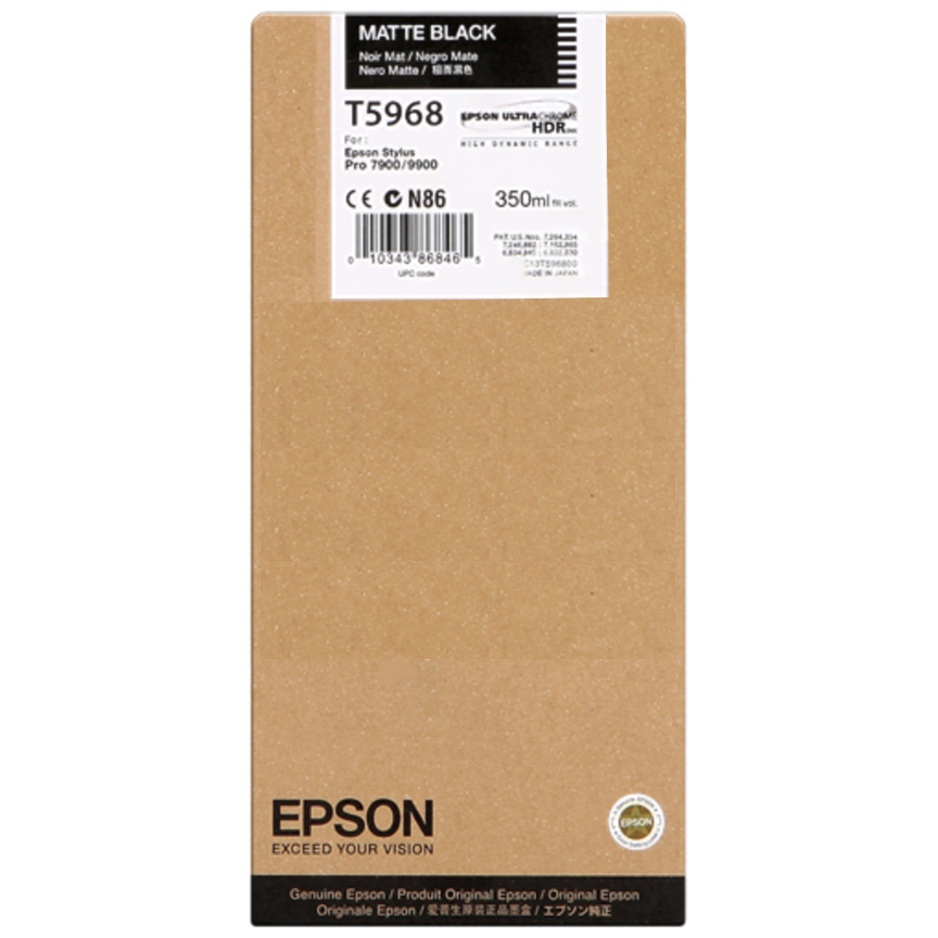 Original Epson T5968 Matte Black Ink Cartridge (C13T596800)