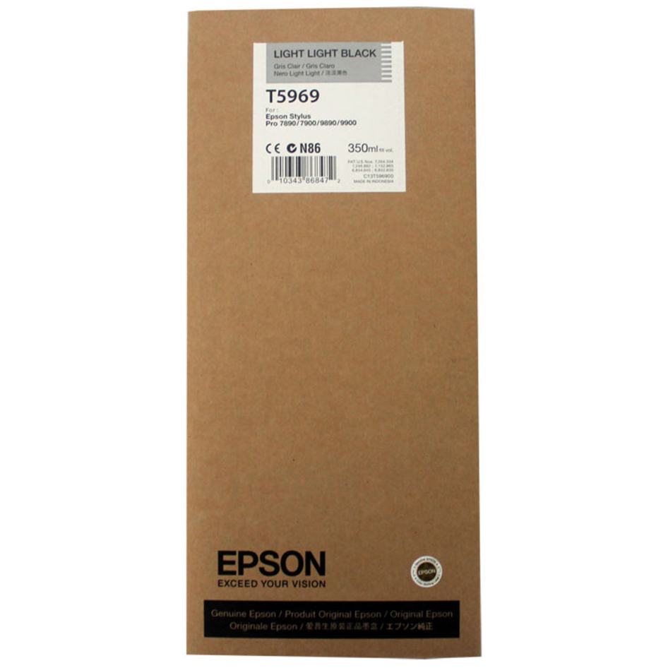 Original Epson T5969 Light Light Black Ink Cartridge (C13T596900)