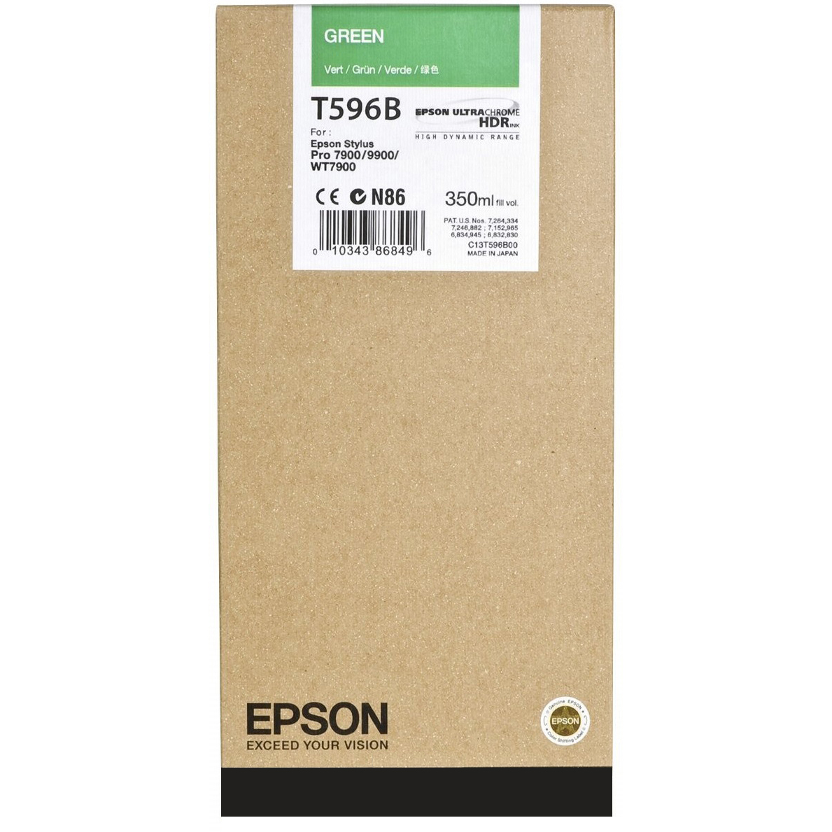 Original Epson T596B Green Ink Cartridge (C13T596B00)