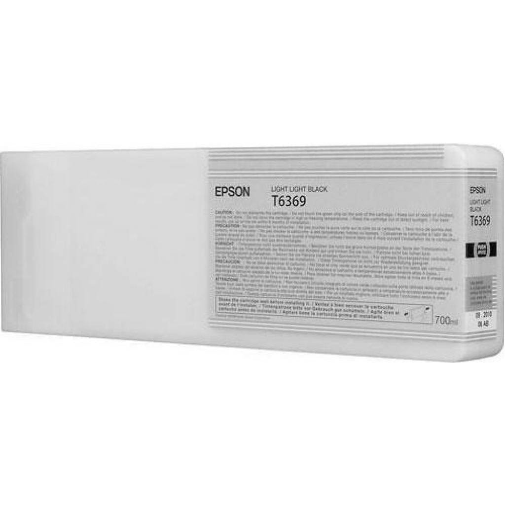 Original Epson T6369 Light Light Black High Capacity Ink Cartridge (C13T636900)