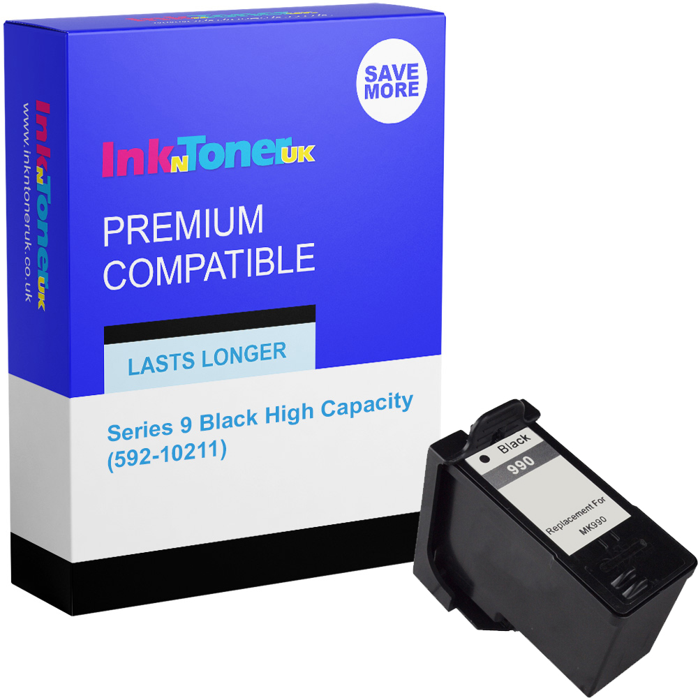 Premium Remanufactured Dell Series 9 Black High Capacity Ink Cartridge (592-10211)