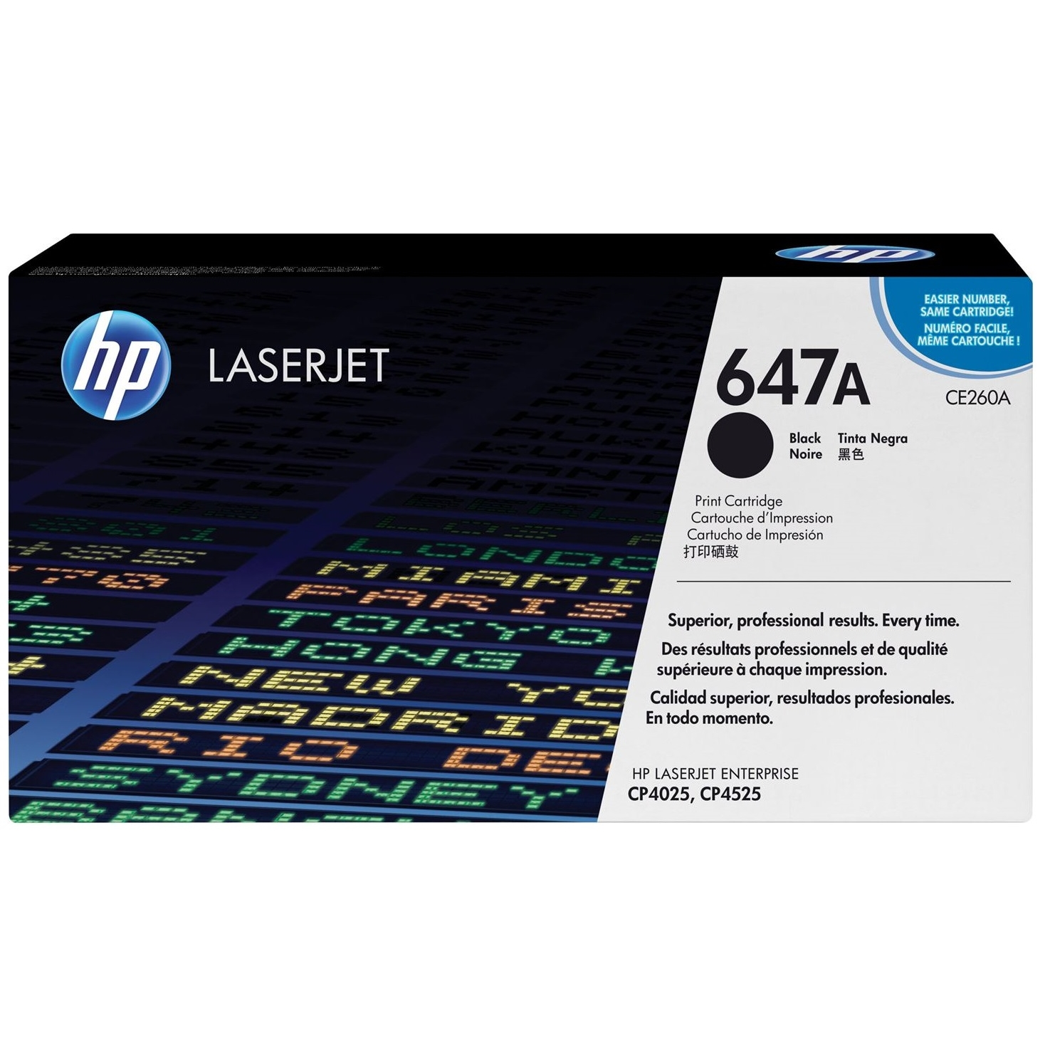 Original HP 647A Black Toner Cartridge (CE260A)