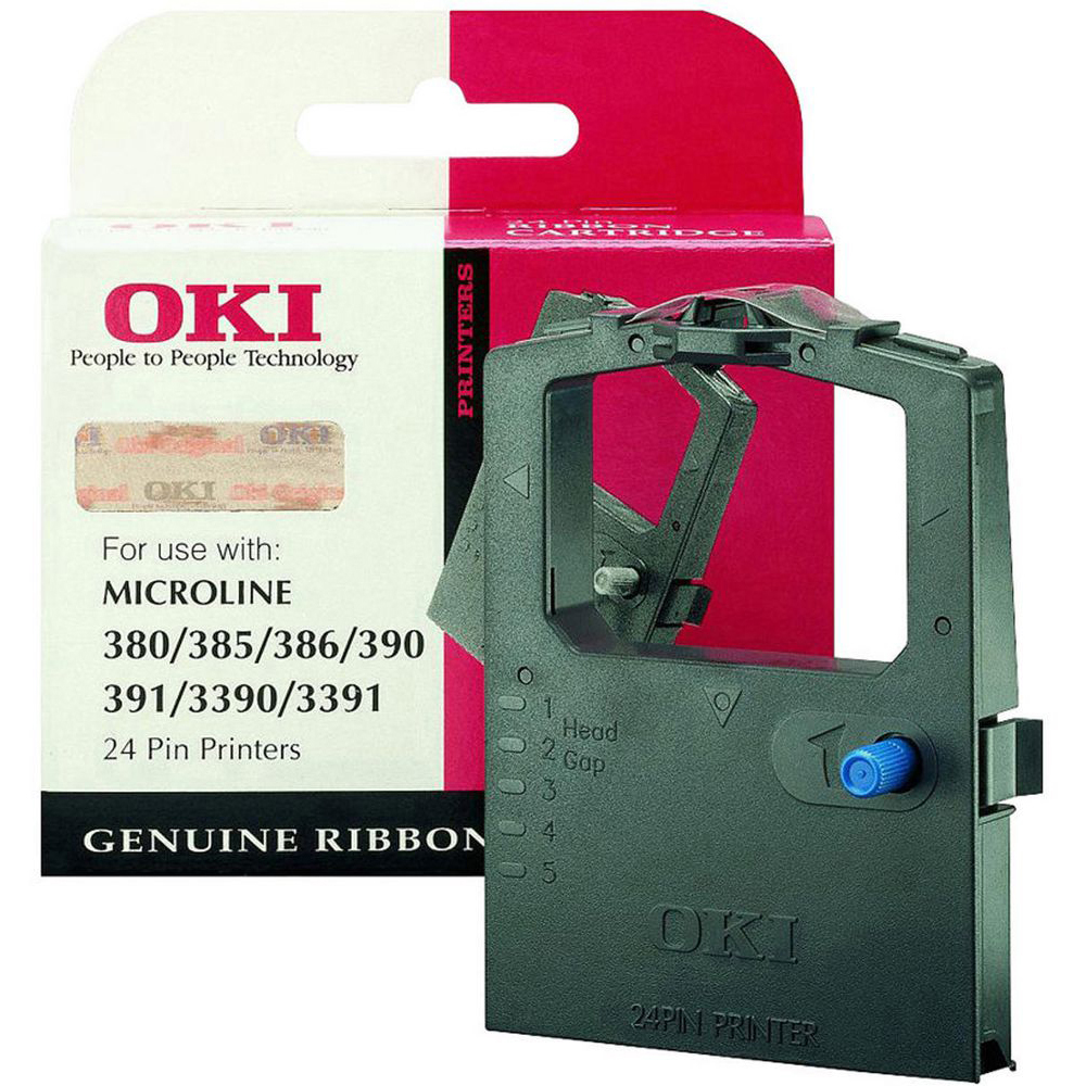 Original OKI 09002309 Black Nylon Ink Ribbon (09002309)