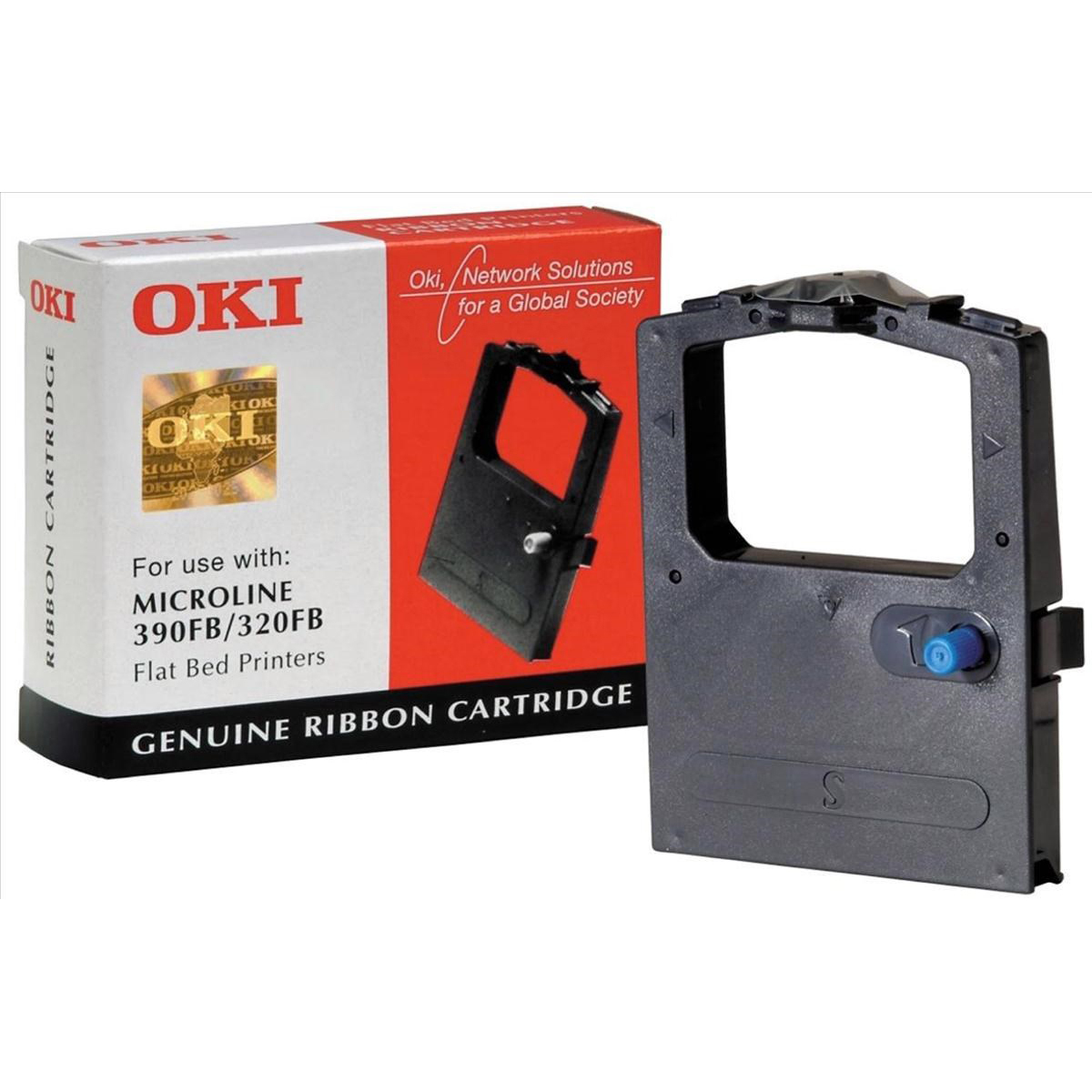 Original OKI 09002310 Black Nylon Ink Ribbon (09002310)