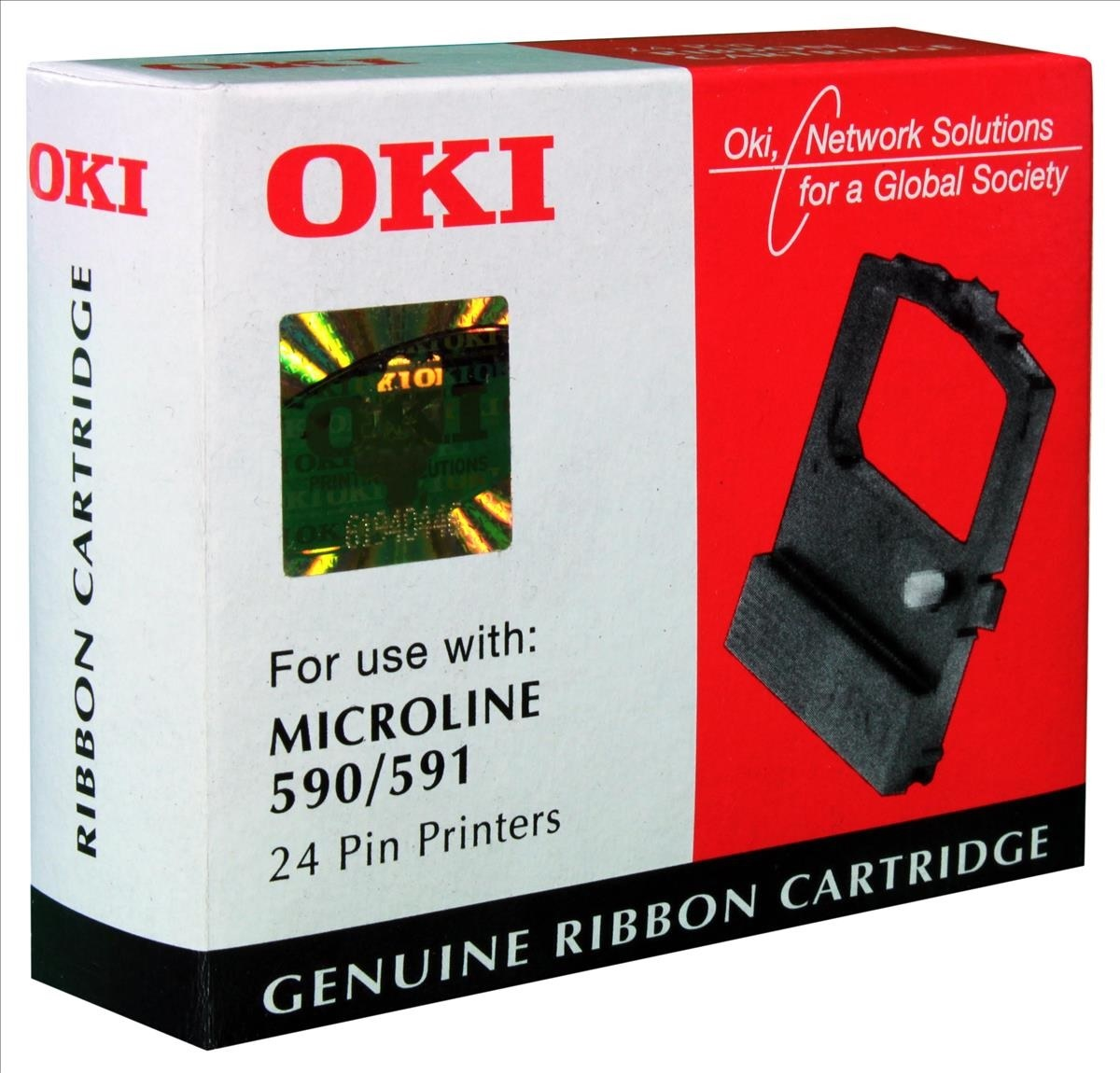Original OKI 09002316 Black Nylon Ink Ribbon (09002316)