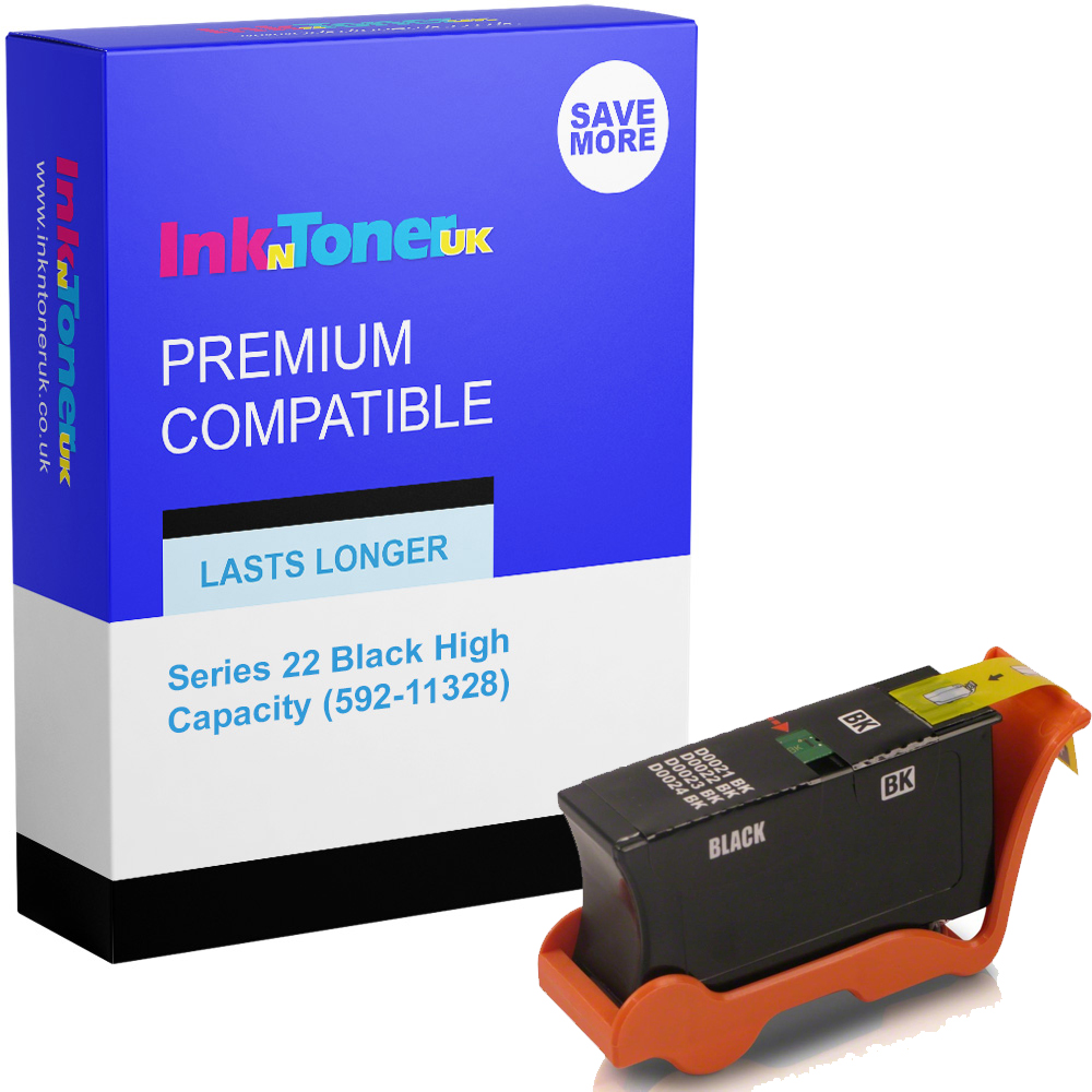 Premium Compatible Dell Series 22 Black High Capacity Ink Cartridge (592-11328)