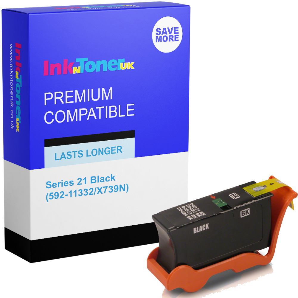Premium Compatible Dell Series 21 Black Ink Cartridge (592-11332/X739N)