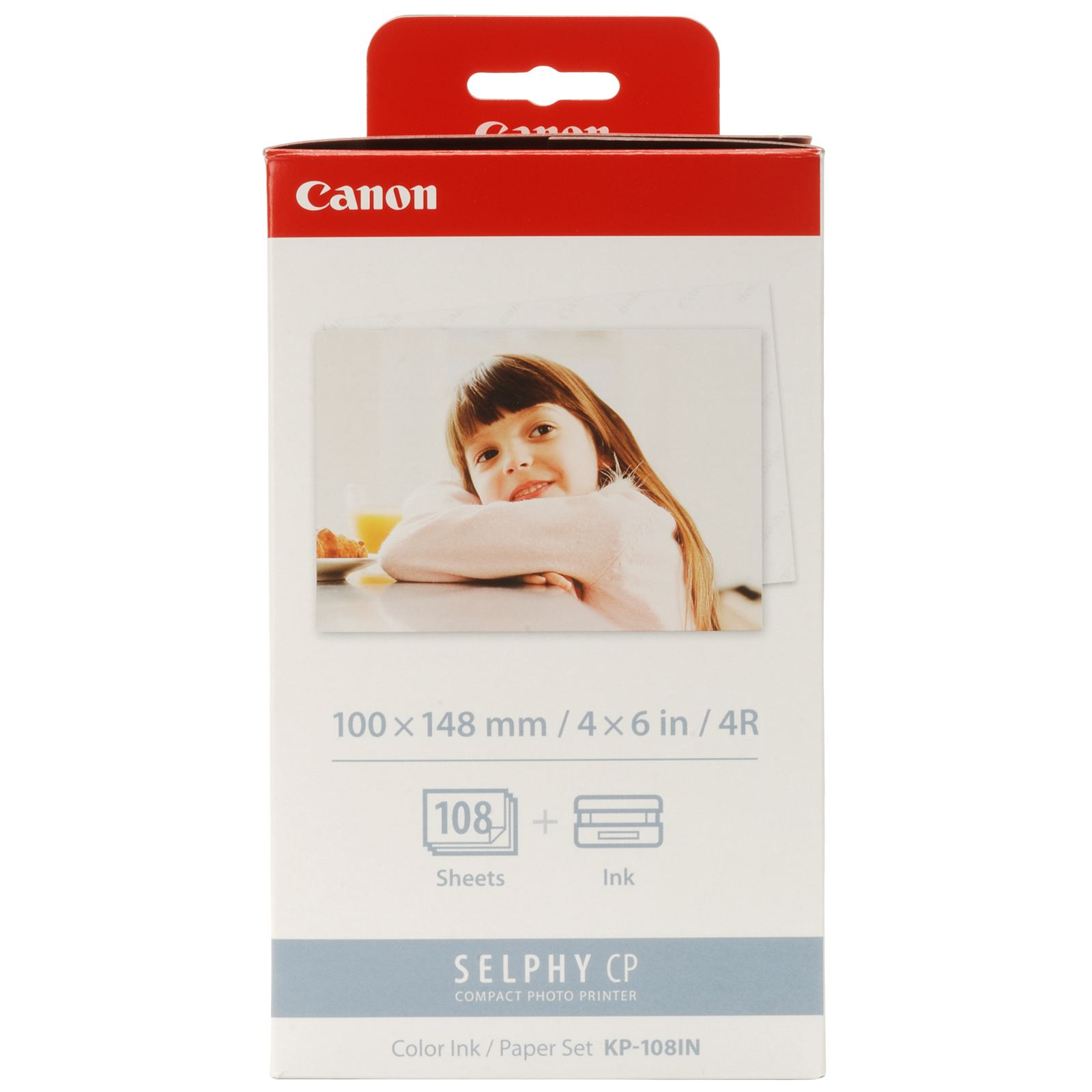 Original Canon KP-108IN Colour Ink Cartridge 3 Cartridges Per Pack + Photo Paper (3115B001AA)