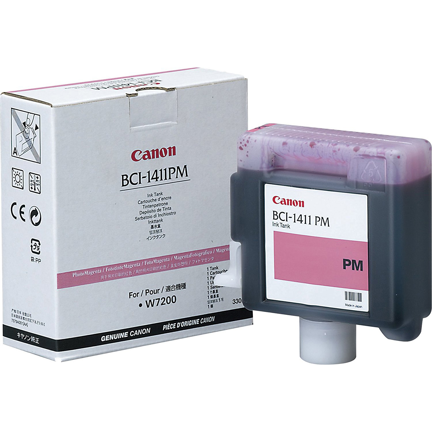 Original Canon BCI-1411PM Photo Magenta Ink Cartridge (7579A001AA)