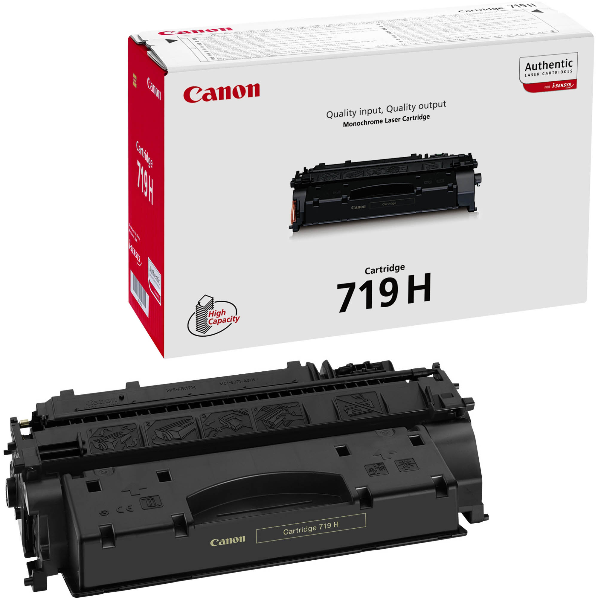 Original Canon 719H Black High Capacity Toner Cartridge (3480B002AA)