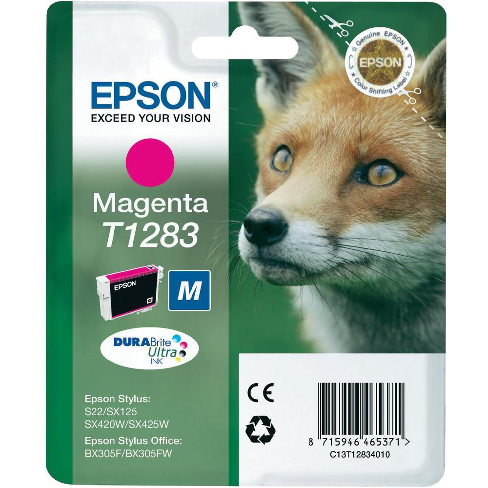 Original Epson T1283 Magenta Ink Cartridge (C13T12834011)