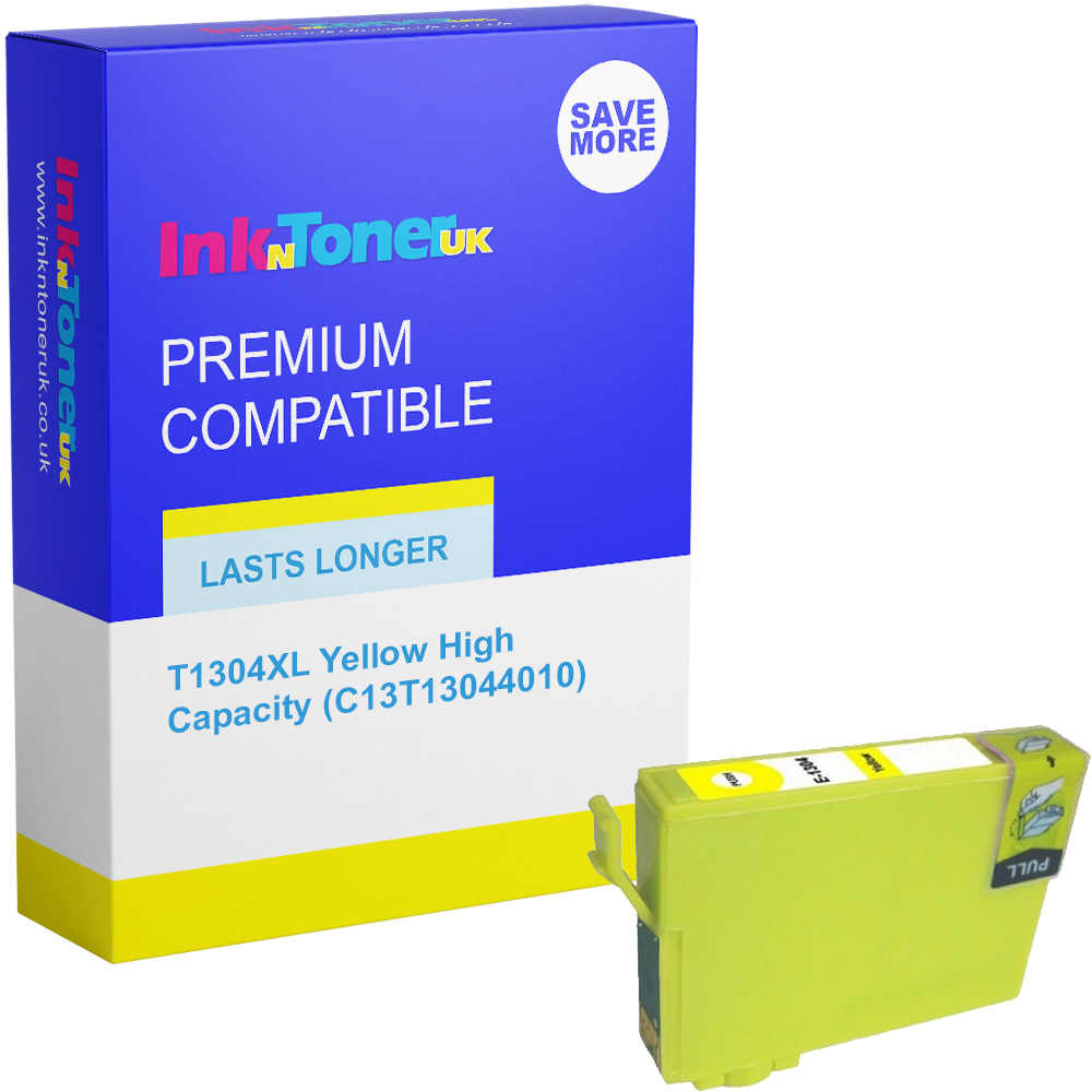 Premium Compatible Epson T1304XL Yellow High Capacity Ink Cartridge (C13T13044010)