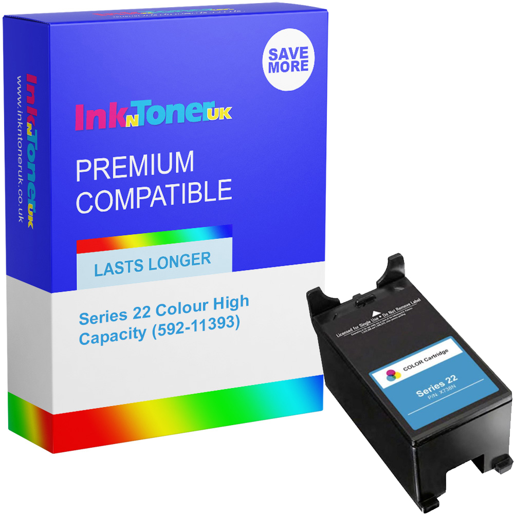 Premium Compatible Dell Series 22 Colour High Capacity Ink Cartridge (592-11393)
