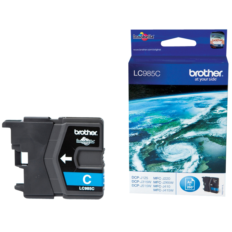 Original Brother LC985C Cyan Ink Cartridge (LC985C)