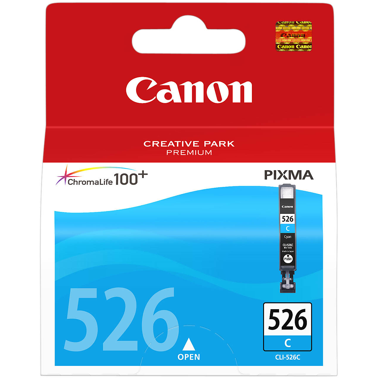 Original Canon CLI-526C Cyan Ink Cartridge (4541B001)
