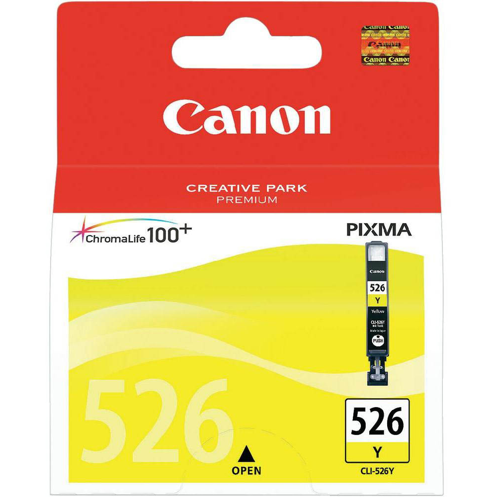 Original Canon CLI-526Y Yellow Ink Cartridge (4543B001)
