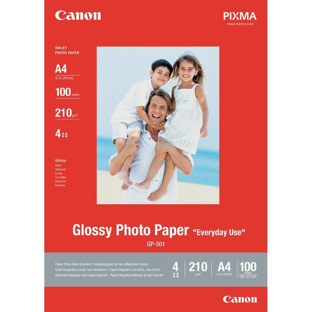 Original Canon GP-501 210gsm A4 Photo Paper - 100 Sheets (0775B001)