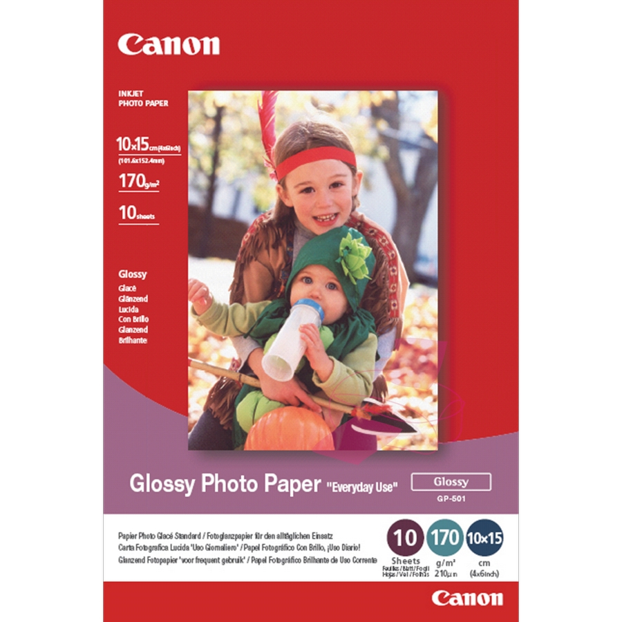 Original Canon GP-501 170gsm A6 Glossy Photo Paper - 100 Sheets (0775B003)