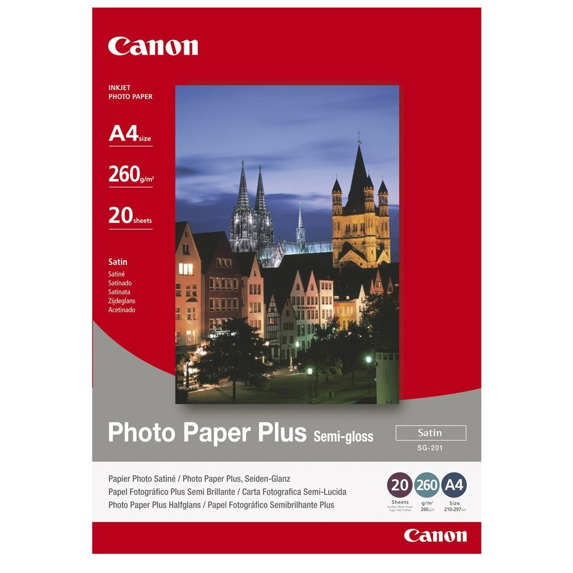 Original Canon SG-201 260gsm A4 Photo Paper Plus - 20 sheets (1686B021)