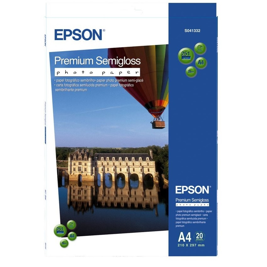 Original Epson S041332 251gsm A4 Photo Paper - 20 Sheets (C13S041332)