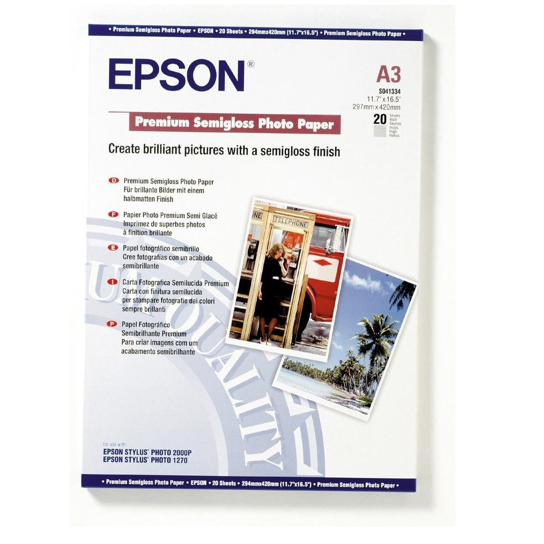 Original Epson S041334 251gsm A3 Photo Paper - 20 Sheets (C13S041334)