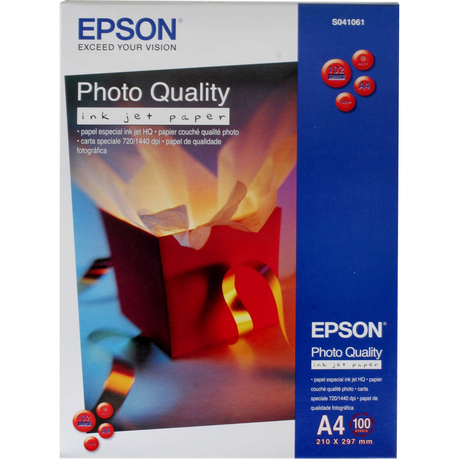 Original Epson S041061 104gsm A4 Inkjet Paper - 100 Sheets (C13S041061)