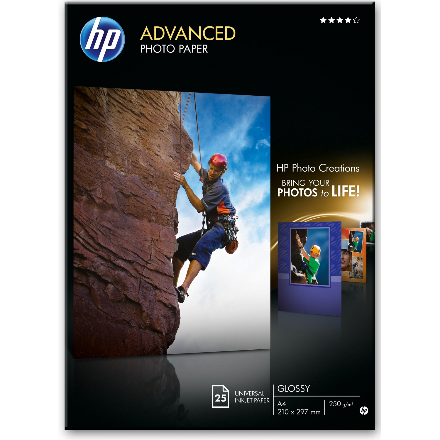 Original HP Q8696A 250gsm 13 x 18cm Photo Paper - 25 Sheets (Q8696A)