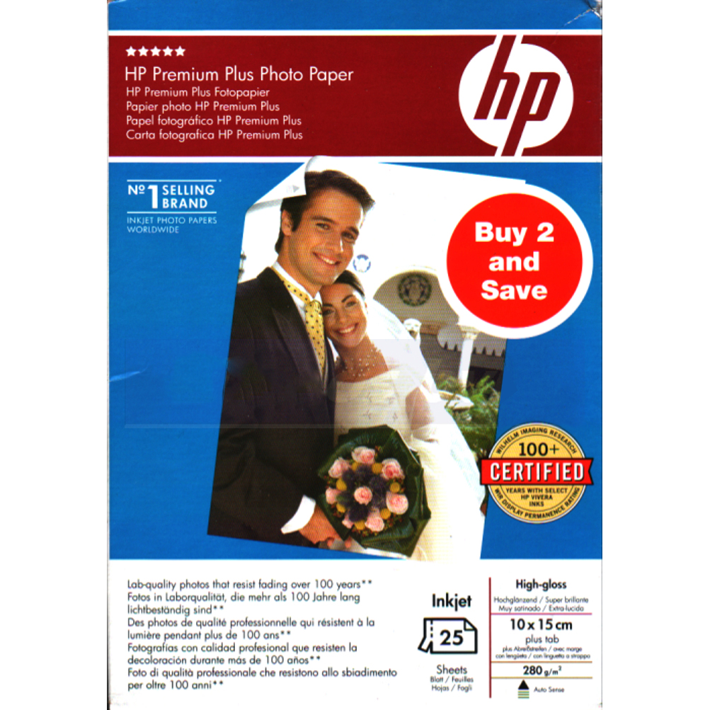 Original HP SD684A 280gsm A6 Photo Paper - 25 Sheets (SD684A)