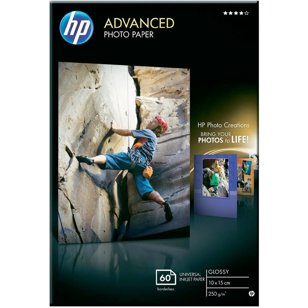Original HP Q8008A 250gsm A6 Photo Paper - 60 Sheets (Q8008A)